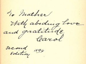 """Inscription in Woman's Cause, Daystar Collection"""